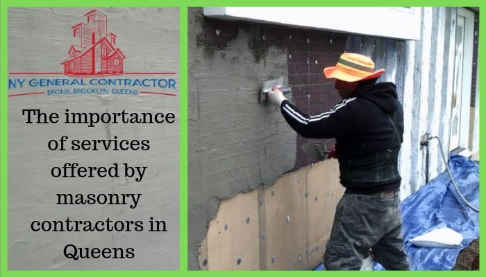 Services Offered By Masonry Contractors